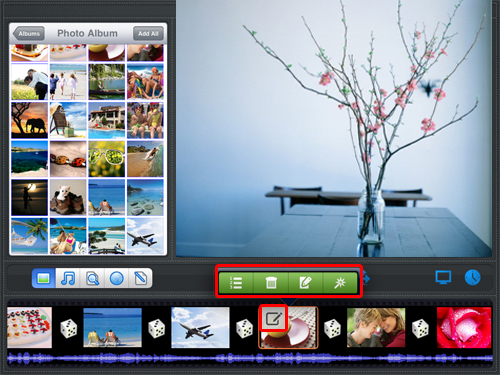 arrange photo order and delete photos