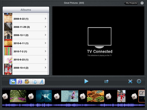 Play Slideshow on iPad with AirPlay