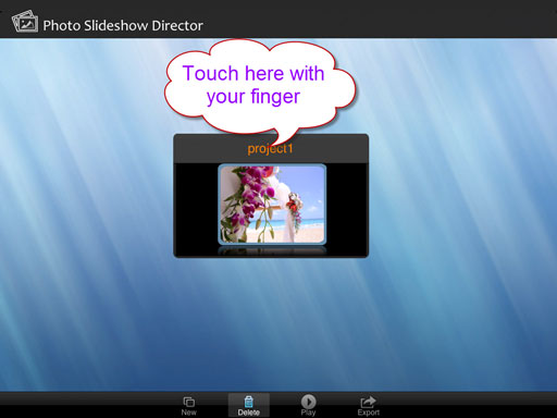 Create a photo slideshow with photos and music into fantastic slideshow in minutes on iPad.