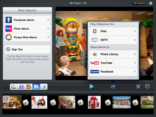 How to make a picture slideshow on ipad