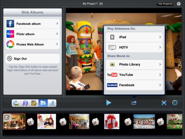 ipad slideshow, photo, slideshow,HDTV
