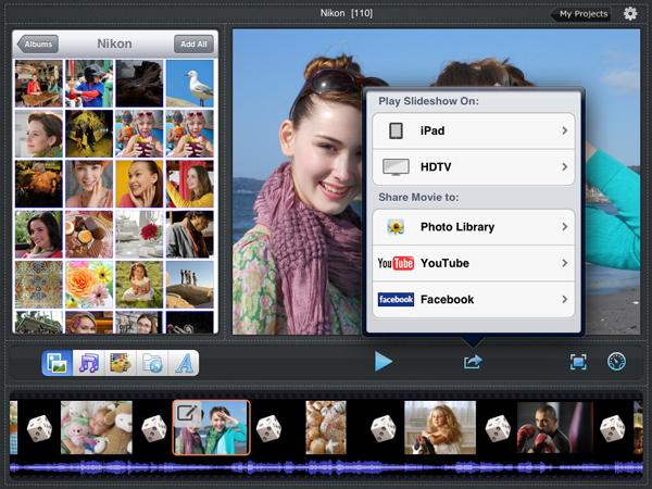 Pics video photo music slideshow