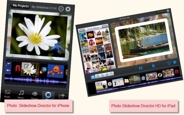how to create a photo slideshow on ipad