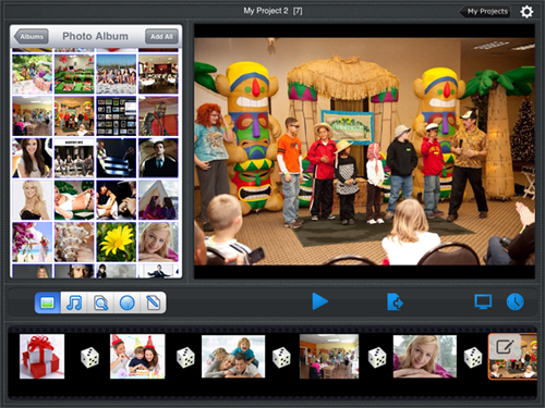 how to add music to a slideshow on ipad