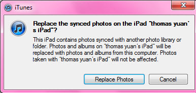 transfer photos to ipad from pc