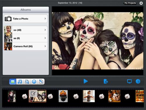 create slideshow for Halloween
