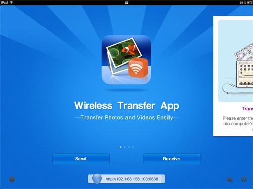 wireless upload photos to ipad