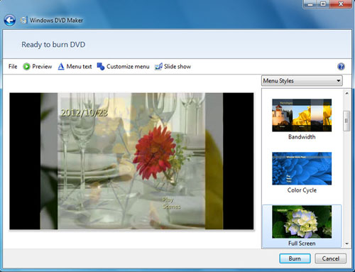 burn dvd with windows dvd maker