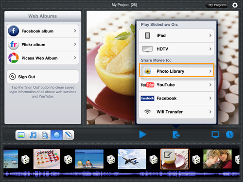 create slideshow ipad