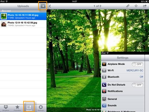 ipad photo to pc with dropbox