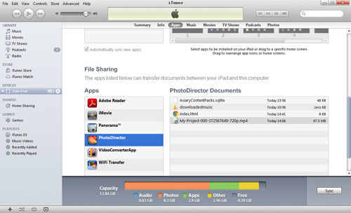 transfer video with itunes