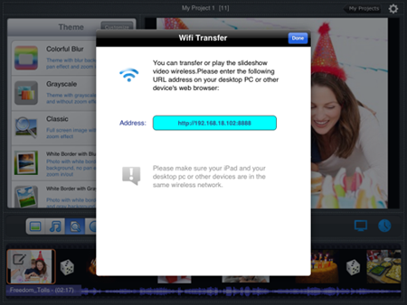 URL for wireless transfer