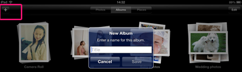 create ipad album