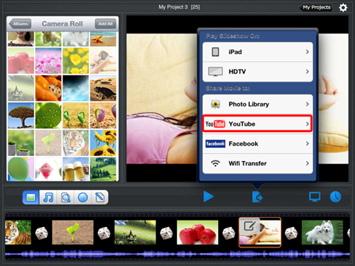 create video for youtube on ipad