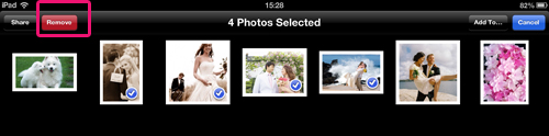 delete ipad photos