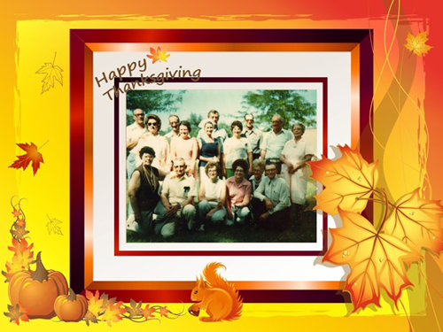 photo card for thanksgiving day