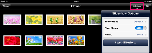 ipad photos slideshow