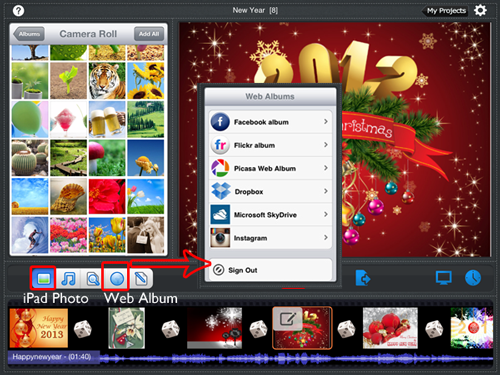 Import photos to ipad slideshow app