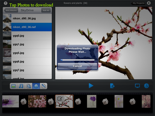 download skydrive photos to slideshow app