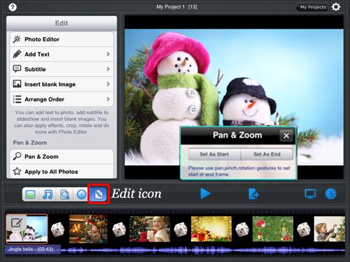 organize photo slideshow