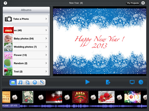 create photo slideshow for new year