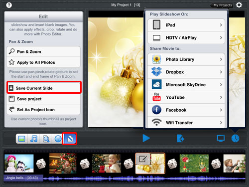 Edit photos and save it to iPad
