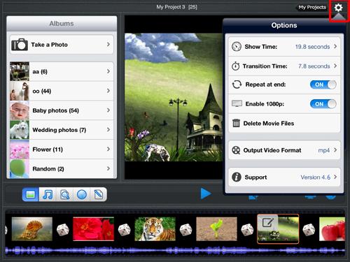 slideshow setting
