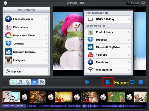create a slideshow on iPad
