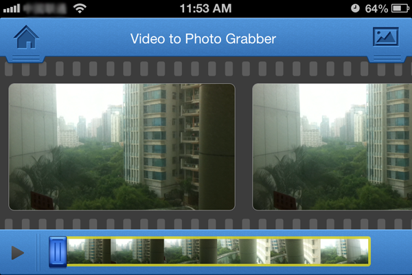 select photo in a video