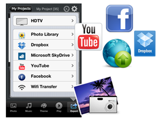 upload slideshow video to facebook, youtube